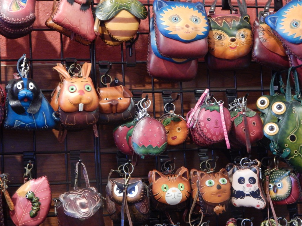 handcrafted leather animal purses