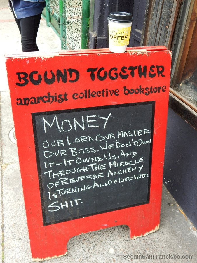 bound together anarchist collective bookstore, san francisco