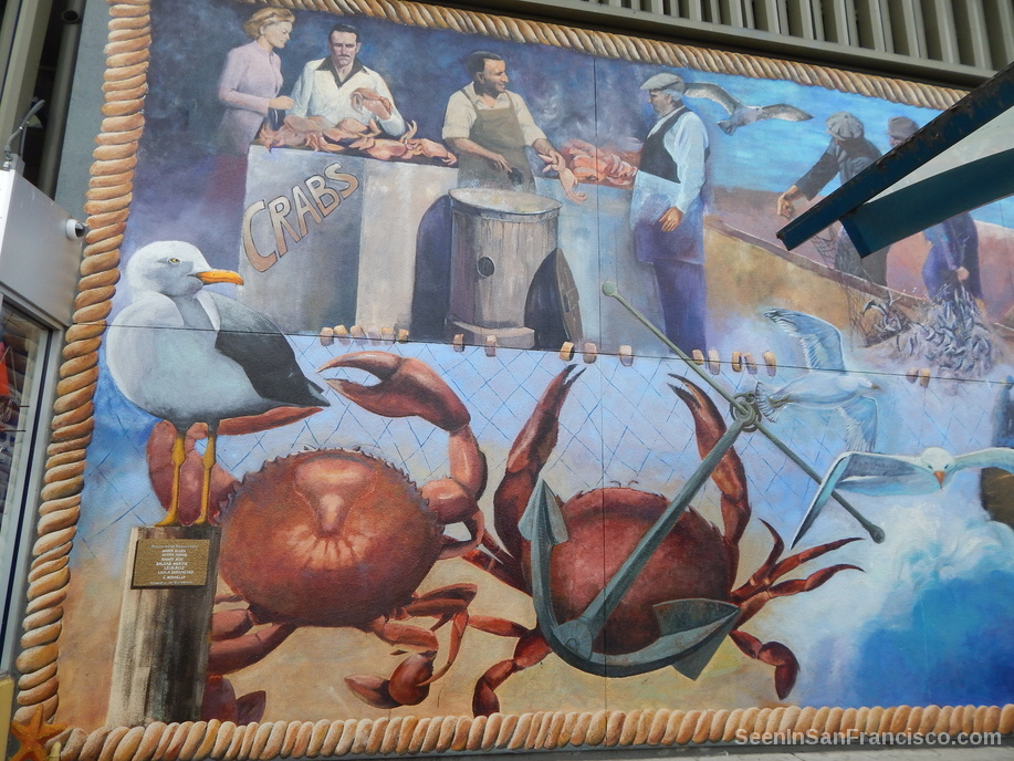 crabs mural on jones street, san francisco