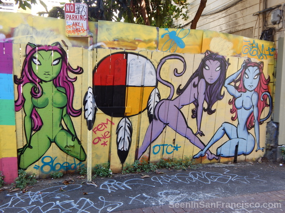 cat women by femone, lilac alley murals