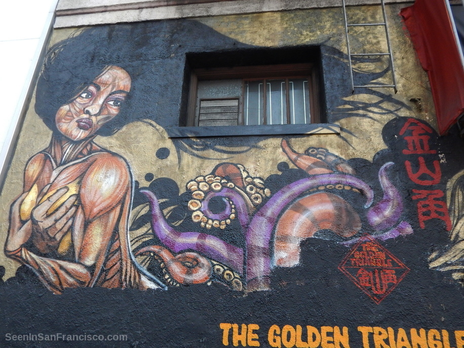 golden triangle mural chinatown san francisco