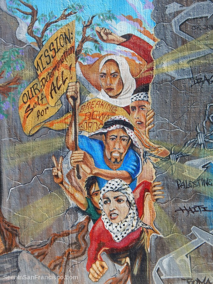 self-determination for all mural, mission district san francisco