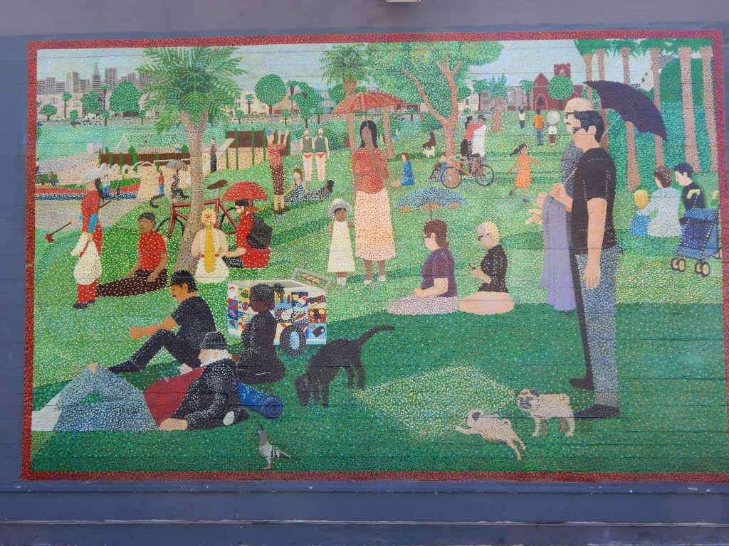 a sunday afternoon in dolores park mural
