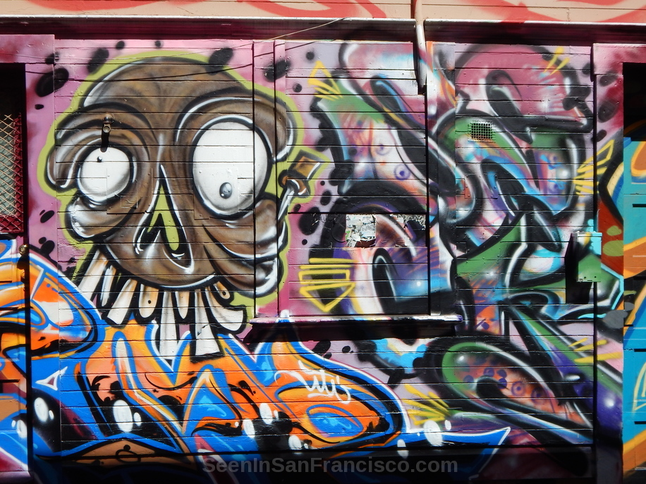 big toothed skull, cypress alley murals