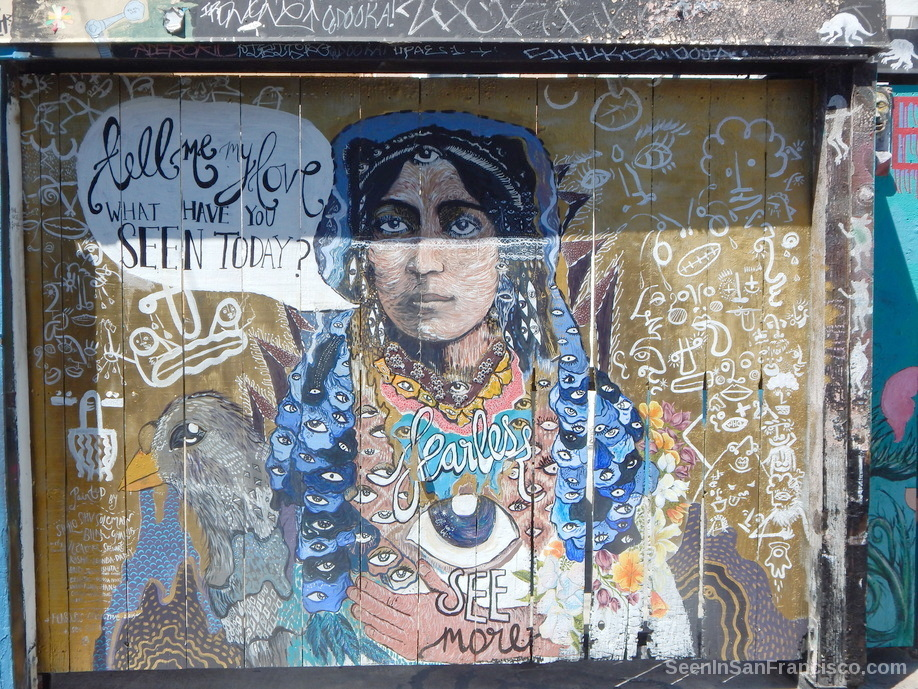 fearless collective mural by shilo shiv suleman, clarion alley san francisco