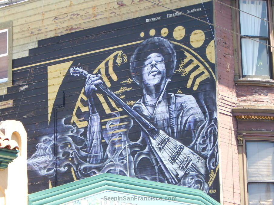 jimi hendrix mural haight ashbury san francisco