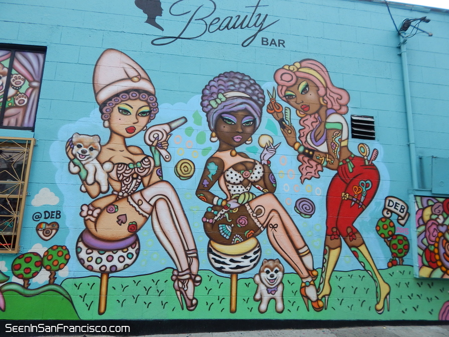 beauty bar mural san francisco